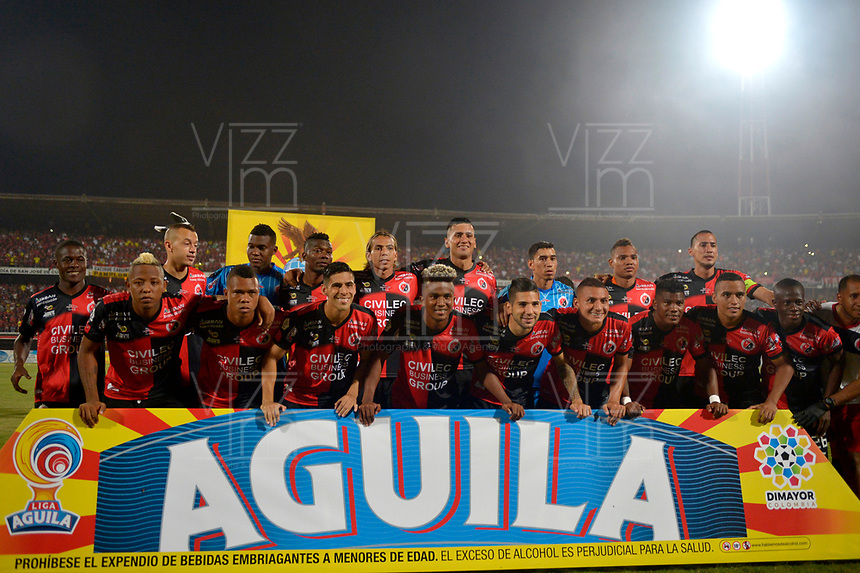 CÚCUTA - COLOMBIA, 26-11-2018:Formación del Cúcuta Deportivo ante el Unión Magdalena durante la Final Del Torneo Águila 2018 , jugado en el estadio General  Santander./Team of Cucuta Deportivo agaisnt of Union Magdalena during the  Final Tournament Aguila 2018 played at General Santander stadium./  Photo: VizzorImage / Cristian Álvarez / Contribuidor