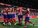 Atletico de Madrid's Alvaro Morata during La Liga match. Aug 18, 2019. (ALTERPHOTOS/Manu R.B.)Atletico de Madrid's Alvaro Morata celebrates after scoring a goal during the Spanish La Liga match between Atletico de Madrid and Getafe CF at Wanda Metropolitano Stadium in Madrid, Spain