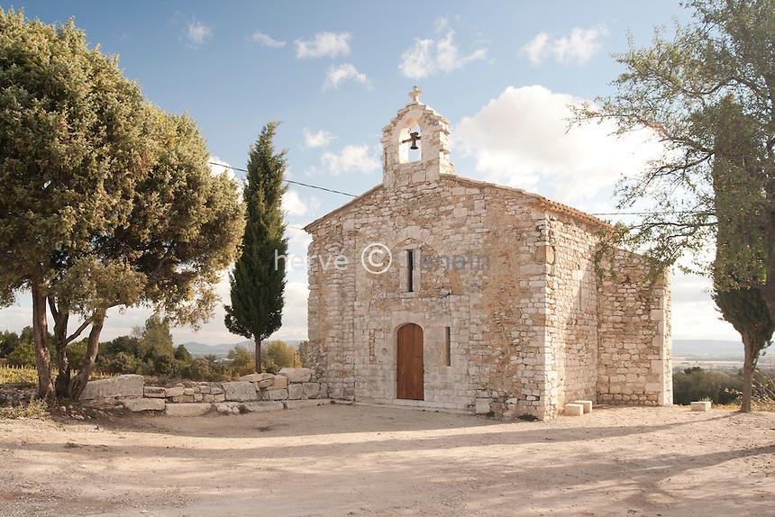 France, Ardèche (07), Saint-Marcel-d'Ardèche, chapelle Saint-Julien // France, Ardeche, Saint Marcel d'Ardeche, chapel St Julien