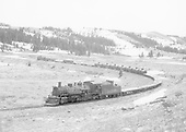 Tanglefoot Curve.<br /> D&amp;RGW  Tanglefoot Curve, CO  Taken by Richardson, Robert W. - 5/27/1962