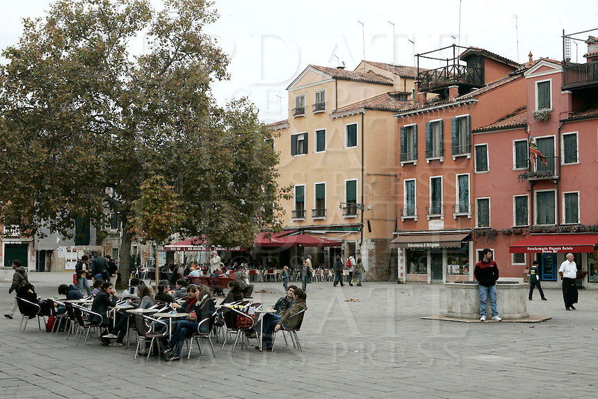 Una veduta di Campo Santa Margherita, Venezia.<br /> View of Campo Santa Margherita in Venice.<br /> UPDATE IMAGES PRESS/Riccardo De Luca