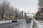 Light snow covers downtown Carson City, Nev., on Wednesday, Dec. 5, 2018. <br /> Photo by Cathleen Allison/Nevada Momentum