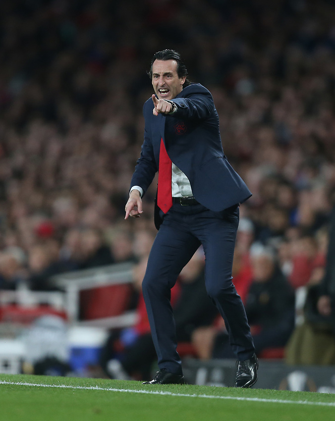 Arsenal manager Unai Emery <br /> <br /> Photographer Rob Newell/CameraSport<br /> <br /> UEFA Europa League Semi-final 1st Leg - Arsenal v Valencia - Thursday 2nd May 2019 - The Emirates - London<br />  <br /> World Copyright © 2018 CameraSport. All rights reserved. 43 Linden Ave. Countesthorpe. Leicester. England. LE8 5PG - Tel: +44 (0) 116 277 4147 - admin@camerasport.com - www.camerasport.com