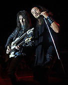 "MIAMI, FL - FEBRUARY 09: Ron ""Bumblefoot"" Thal and Jeff Scott Soto of Sons Of Apollo perform during the Monsters Of Rock pre cruise concert at The Magic City Casino on February 9, 2018 in Miami, Florida. Credit Larry Marano © 2018"