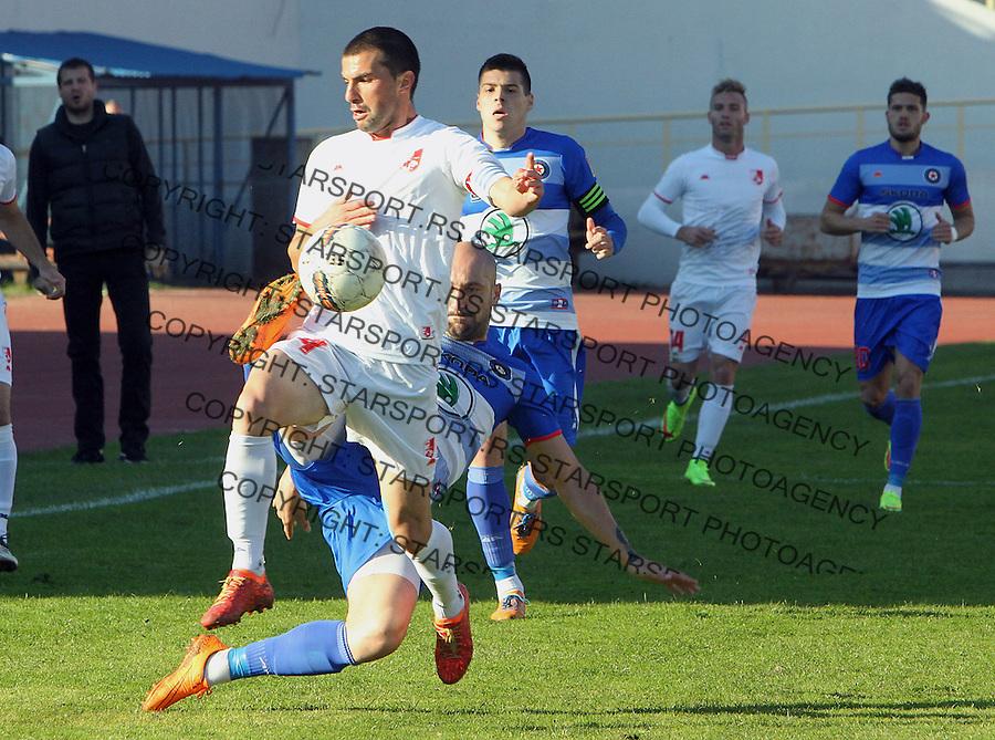 Fudbal Super liga season 2015-2016<br /> Radnicki (Nis) v Borac<br /> Radnicki Aleksandar Jovanovic, Borac Dusan Micic<br /> Nis, 1.11.2015.<br /> foto: Sasa Djordjevic/Starsportphoto &copy;