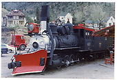 3/4 fireman's-side view of C&amp;S #60 on display at Idaho Springs.<br /> C&amp;S  Idaho Springs, CO