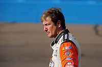Nov. 13, 2009; Avondale, AZ, USA; NASCAR Camping World Truck Series driver Rick Crawford during qualifying prior to the Lucas Oil 150 at Phoenix International Raceway. Mandatory Credit: Mark J. Rebilas-
