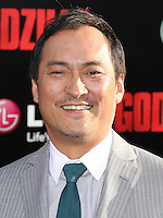 "HOLLYWOOD, LOS ANGELES, CA, USA - MAY 08: Ken Watanabe at the Los Angeles Premiere Of Warner Bros. Pictures And Legendary Pictures' ""Godzilla"" held at Dolby Theatre on May 8, 2014 in Hollywood, Los Angeles, California, United States. (Photo by Xavier Collin/Celebrity Monitor)"