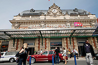 Newly-arrived visitors from Moscow are greeted by their chauffeur-driven car outside the central train station, Nice, France, 28 April 2012