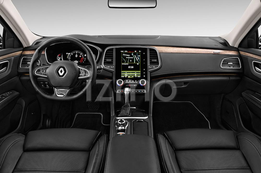 Stock photo of straight dashboard view of 2016 Renault Talisman Initiale-Paris 5 Door Wagon Dashboard