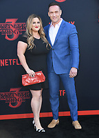 "28 June 2019 - Santa Monica, California - Becky Poliakoff, Andrey Ivchenko. ""Stranger Things 3"" Los Angeles Premiere held at Santa Monica High School. Photo Credit: Birdie Thompson/AdMedia"