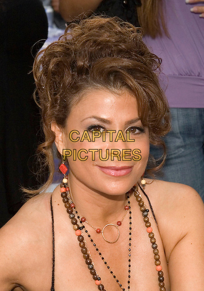 PAULA ABDUL.LA Mart and cbk present the 4th annual American Foundation for AIDS Research (Amfar) fundraiser/street party entitled  'Takin' it to the Beach'  held at 1933 S. Broadway, Los Angeles, California..July 23rd, 2005.Photo Credit: Zach Lipp/AdMedia.headshot portrait neckalces beads.www.capitalpictures.com.sales@capitalpictures.com.© Capital Pictures.