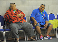 Spectators watch the 2013 FIBA Oceania Pacific Championship women's 5th place playoff match between Fiji and Samoa at Te Rauparaha Arena, Porirua, Wellington, New Zealand on Wednesday, 4 December 2013. Photo: Dave Lintott / lintottphoto.co.nz