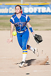 Western Nevada's Kristina George (13) pitches against the Salt Lake Community College during the second game of a two game series in Carson City, Nev. on Saturday, March 7, 2015. <br /> Photo by Kevin Clifford/Nevada Photo Source