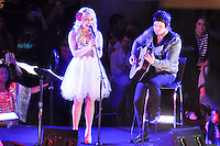 The Voice's RaeLynn entertains at the Houston Galleria's Ice Spectacular