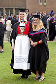 New graduate wearing Norwegian National Costume, Graduation Celebrations at Guildford Cathedral.