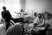 Asmara, Eritrea.November 2002.Birhan Aim Hospital  (Light to the Eye Hospital)..Family?s arrive at noon the day following surgery. The atmosphere is electric with smiles and excitement. In some cases the patient is seeing the family for the first time.