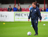 Preston North End First Team Coach Steve Thompson during the pre-match warm-up <br /> <br /> Photographer Kevin Barnes/CameraSport<br /> <br /> The Carabao Cup - Accrington Stanley v Preston North End - Tuesday 8th August 2017 - Crown Ground - Accrington<br />  <br /> World Copyright &copy; 2017 CameraSport. All rights reserved. 43 Linden Ave. Countesthorpe. Leicester. England. LE8 5PG - Tel: +44 (0) 116 277 4147 - admin@camerasport.com - www.camerasport.com