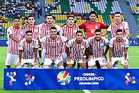 ARMENIA, COLOMBIA - JANUARY 19: Paraguay players pose for a picture during their CONMEBOL Pre-Olympic soccer game against Uruguay at Centenario Stadium on January 19, 2020 in Armenia, Colombia. (Photo by Daniel Munoz/VIEW press/Getty Images)