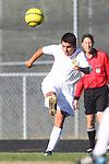 Palos Verdes, CA 02/09/12 - Jimmy Ramirez (Peninsula #24) in action during the West vs Peninsula Bay League boys varsity soccer game.