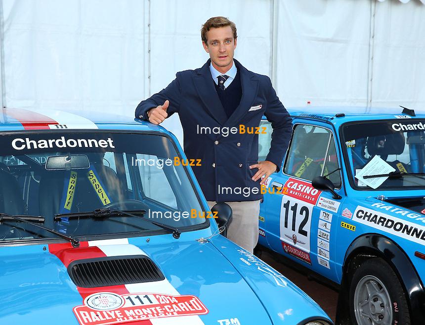 Pierre Casiraghi, son of Princess Caroline of Hanover, participates in the 17th Monte-Carlo Historical Rallye with an AUTOBIANCHI A112 ABARTH of 1978. His co-pilot is Carlo Borromeo, the brother of Beatrice Borromeo.<br /> Monaco, January 24, 2014.