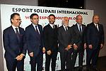 XIV Sopar Solidari de Nadal.<br /> Esport Solidari Internacional-ESI.<br /> Josep Vives, Josep M. Bartomeu, Juliano Belleti, Josep Maldonado, Jordi Cardoner &amp; Oscar Grau.