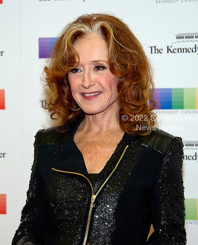 Bonnie Raitt arrives for the formal Artist's Dinner honoring the recipients of the 39th Annual Kennedy Center Honors hosted by United States Secretary of State John F. Kerry at the U.S. Department of State in Washington, D.C. on Saturday, December 3, 2016. The 2016 honorees are: Argentine pianist Martha Argerich; rock band the Eagles; screen and stage actor Al Pacino; gospel and blues singer Mavis Staples; and musician James Taylor.<br /> Credit: Ron Sachs / Pool via CNP