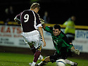 20/09/2006        Copyright Pic: James Stewart.File Name : sct_jspa06_alloa_v_hearts.JUHO MAKELA SCORES HEARTS THRD......Payments to :.James Stewart Photo Agency 19 Carronlea Drive, Falkirk. FK2 8DN      Vat Reg No. 607 6932 25.Office     : +44 (0)1324 570906     .Mobile   : +44 (0)7721 416997.Fax         : +44 (0)1324 570906.E-mail  :  jim@jspa.co.uk.If you require further information then contact Jim Stewart on any of the numbers above.........
