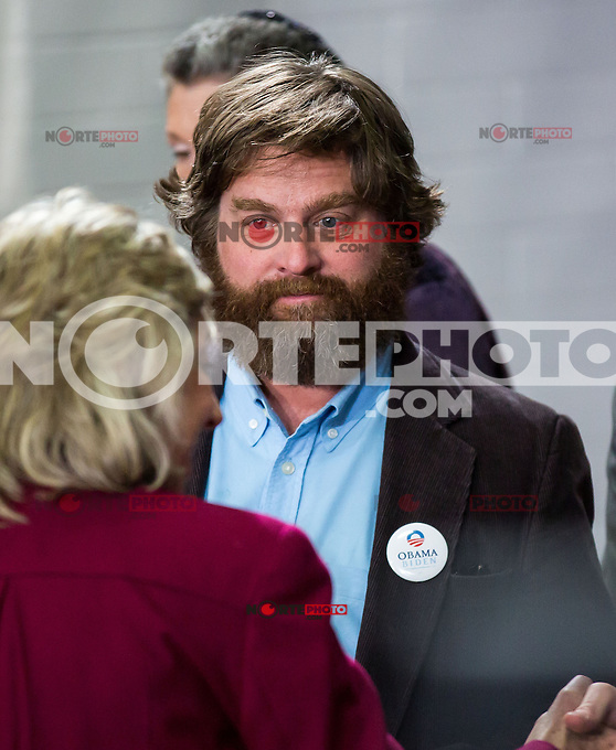 LAS VEGAS, NV - October 26:  zach Galifianakis pictured as Michelle Obama speaks t Grassroots Supporters at Orr Middle School Gymnasium on October 25, 2012 in Las Vegas, Nevada. © Kabik/ Starltepics /MediaPunch Inc. /NortePhoto