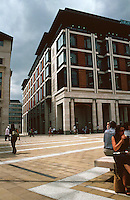 London:  Paternoster Square, Office Buildings. To the left, Juxson House, William Whitfield.  To the right, Richard Macormac, Warwick House, looking N. W.  Photo '05.