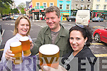 Pictured at the launch of Kenmare Beer on Wednesday Were Siobain Jones, Coachmans Bar Paul Walsh, P.F. McCarthys Bar, and Rose Curulli.