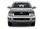 Car photography straight front view of a 2018 Toyota sequoia sr 5 Door SUV
