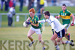 IT Tralee's John Horgan tries to stop Kerry's Shane O'Callaghan in the McGrath cup.