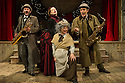 London, UK. 28.11.2014. MRS HUDSON'S CHRISTMAS CORKER! or YOUR GOOSE IS COOKED MR HOLMES, opens at Wilton's Music Hall. Created by actor and writer, Bob Cryer, with his veteran comedy writer father, Barry, and in collaboration with Spymonkey, it is directed by Ed Gaughan. Photograph © Jane Hobson.