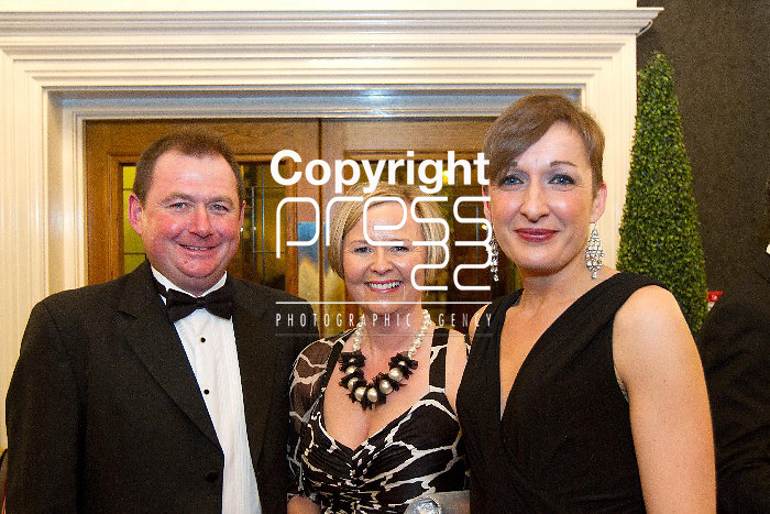 27/01/13 Pictured attending The Hunt Ball in the Tempal Gate Hotel were Joe and Martina Coffey and Melanie Hassett. Photos Tony Grehan / Press 22.