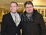 Ciaran McDonagh and Thomas Bolger at St Olivers Community College class of 1996 reunion. Photo:Colin Bell/pressphotos.ie