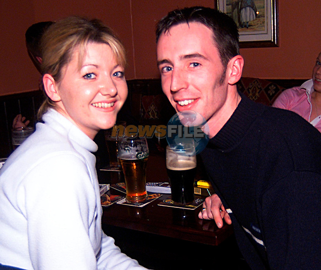 Derdie Hickey, and  Shaine Durleavy in The Cunyngham Arms in Slane...Pic Tony Campbell/Newsfile