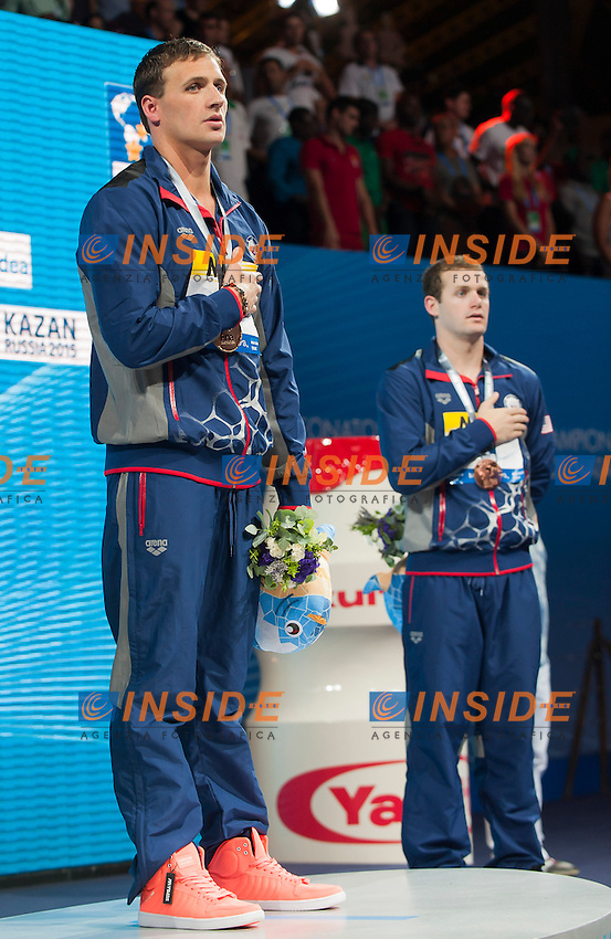 LOCHTE Ryan USA gold medal, CLARY Tyler USA bronze medal<br /> Men's 200m backstroke final<br /> 15th FINA World Aquatics Championships<br /> Palau Sant Jordi, Barcelona (Spain) 02/08/2013 <br /> &copy; Giorgio Perottino / Deepbluemedia.eu / Insidefoto
