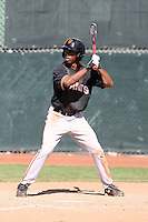 Chris Lofton #10 of the San Francisco Giants plays in a minor league spring training game against the Colorado Rockies at the Giants minor league complex on March 30, 2011  in Scottsdale, Arizona. .Photo by:  Bill Mitchell/Four Seam Images.