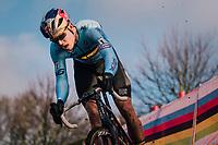 Wout Van Aert (BEL/Cibel-Cebon)<br /> <br /> Men's Elite race<br /> <br /> UCI 2019 Cyclocross World Championships<br /> Bogense / Denmark<br /> <br /> ©kramon