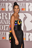 Alesha Dixon<br /> The Brit Awards at the o2 Arena, Greenwich, London, England on February 22, 2017.<br /> CAP/PL<br /> &copy;Phil Loftus/Capital Pictures /MediaPunch ***NORTH AND SOUTH AMERICAS ONLY***