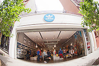 Adidas store in Soho in New York is seen on Friday, May 25, 2012. (© Frances M. Roberts)
