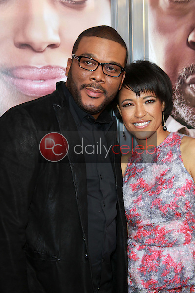 """Tyler Perry and Tina Gordon Chism<br /> at the """"Peeples"""" World Premiere, Arclight, Hollywood, CA 05-08-13<br /> David Edwards/Dailyceleb.com 818-249-4998"""