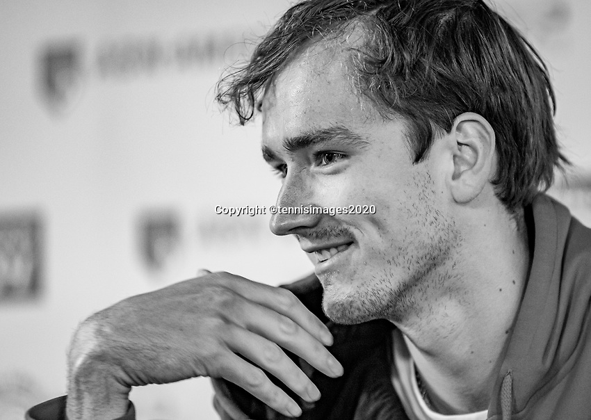 Rotterdam, The Netherlands, 9 Februari 2020, ABNAMRO World Tennis Tournament, Ahoy, Press conference Danill Medvedev (RUS)<br /> Photo: www.tennisimages.com