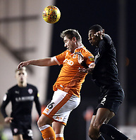 Blackpool's Steven Davies vies for possession with Barnsley's Ethan Pinnock<br /> <br /> Photographer Rich Linley/CameraSport<br /> <br /> The EFL Sky Bet League One - Blackpool v Barnsley - Saturday 22nd December 2018 - Bloomfield Road - Blackpool<br /> <br /> World Copyright &copy; 2018 CameraSport. All rights reserved. 43 Linden Ave. Countesthorpe. Leicester. England. LE8 5PG - Tel: +44 (0) 116 277 4147 - admin@camerasport.com - www.camerasport.com