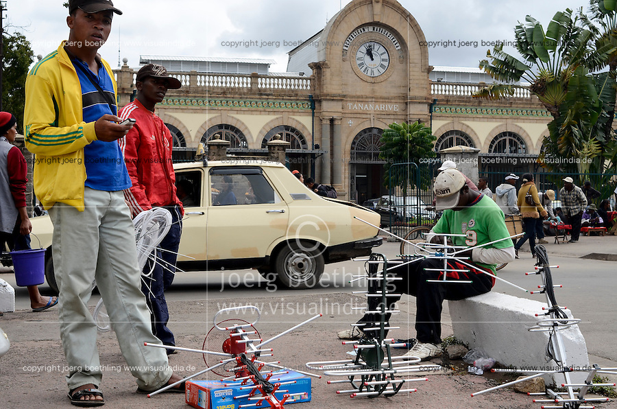 MADAGASCAR city Antananarivo , railway station Soarano /MADAGASKAR Hauptstadt Antananarivo,  Bahnhof Soarano