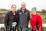 Maura Short, Kieran O'Connor and Leanne McCarthy at the Tralee Marathon on Saturday morning.