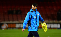 Lincoln City manager Danny Cowley during the pre-match warm-up <br /> <br /> Photographer Andrew Vaughan/CameraSport<br /> <br /> The Buildbase FA Trophy Semi-Final First Leg - York City v Lincoln City - Tuesday 14th March 2017 - Bootham Crescent - York<br />  <br /> World Copyright &copy; 2017 CameraSport. All rights reserved. 43 Linden Ave. Countesthorpe. Leicester. England. LE8 5PG - Tel: +44 (0) 116 277 4147 - admin@camerasport.com - www.camerasport.com