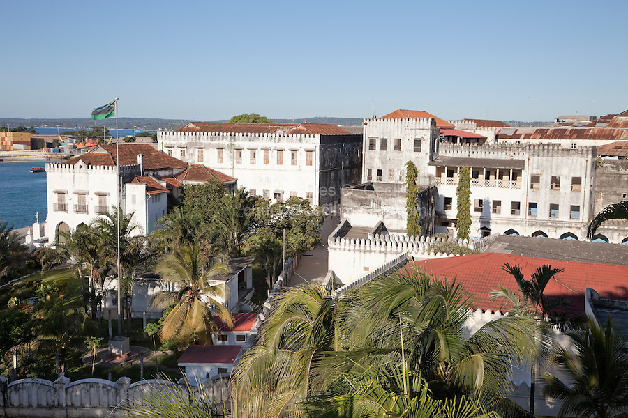 Zanzibar, Tanzania.  Former Sultan's Palace, now The Palace Museum.  Built 1890s.