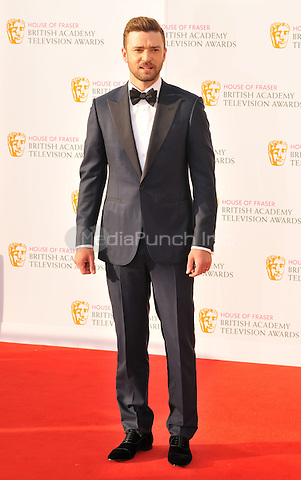 Justin Timberlake at the British Academy (BAFTA) Television Awards 2016, Royal Festival Hall, Belvedere Road, London, England, UK, on Sunday 08 May 2016.<br /> CAP/CAN<br /> &copy;CAN/Capital Pictures /MediaPunch ***NORTH AMERICAN AND SOUTH AMERICAN SALES ONLY***